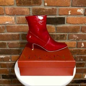 Mackin J Womens Boots Red Faux Patent Leather Boot